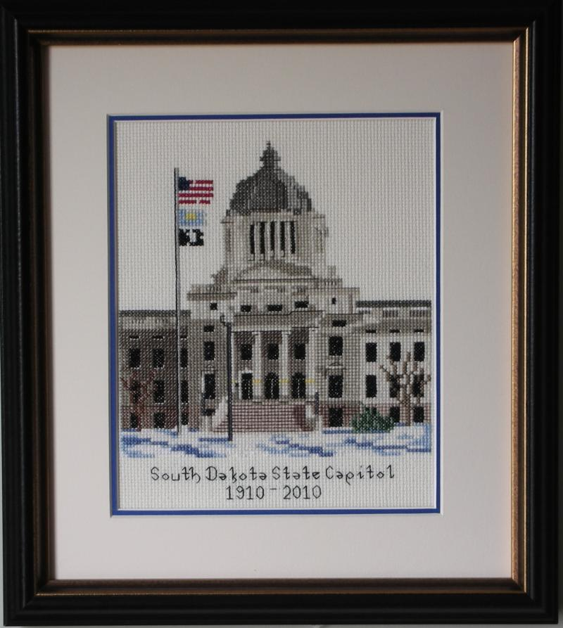 SD State Capitol Cross-stitch kit