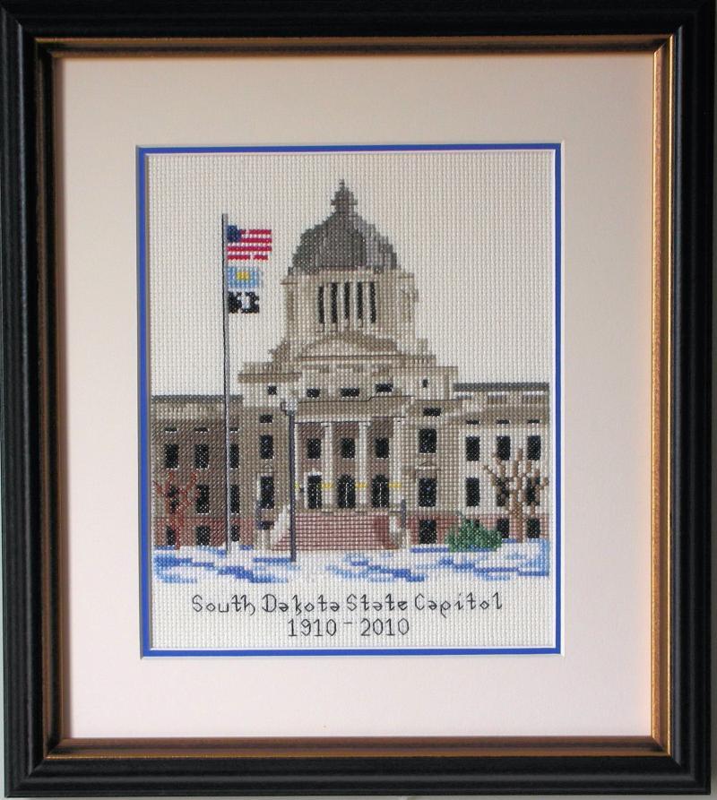 SD State Capitol Cross-stitch print
