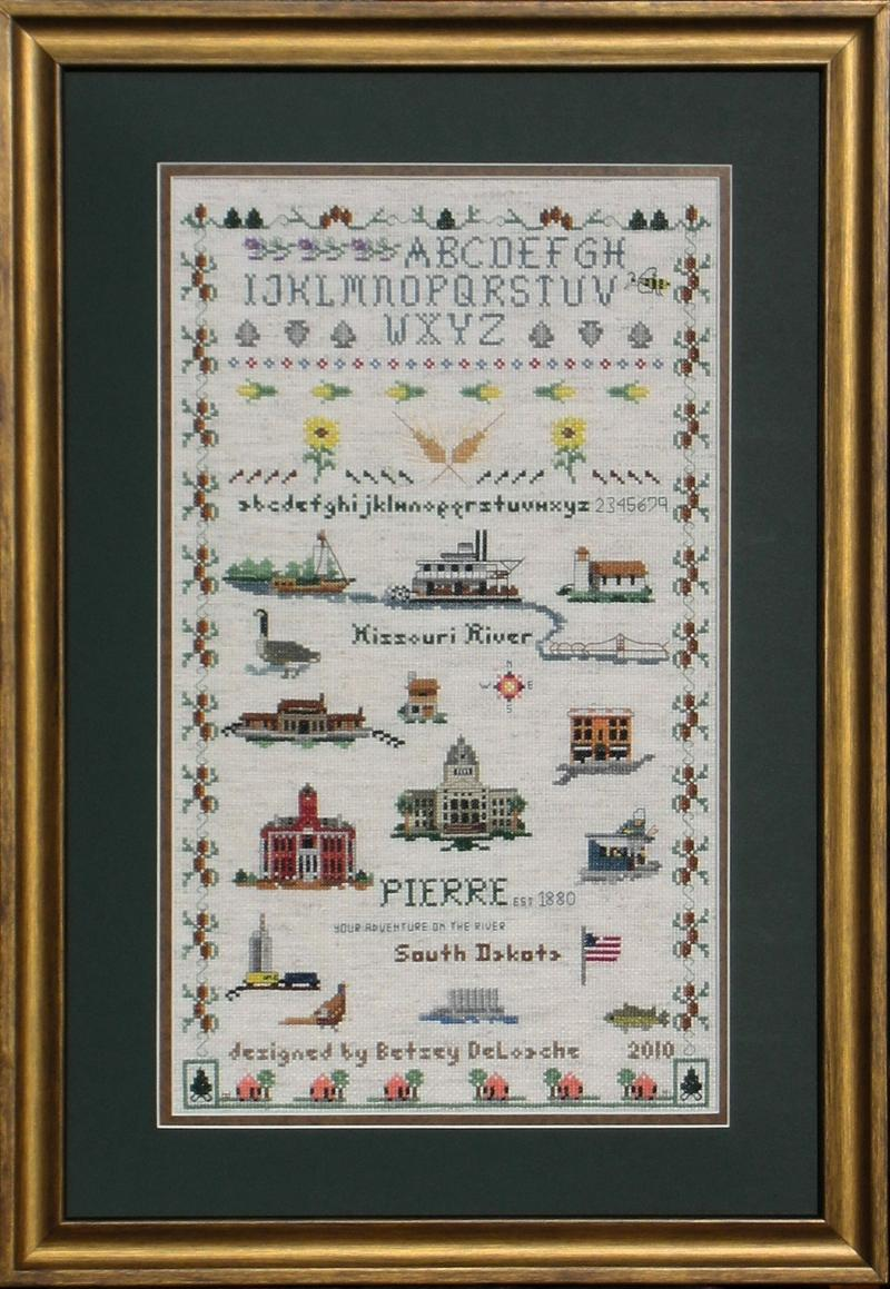 Pierre Historic Sampler cross-stitch